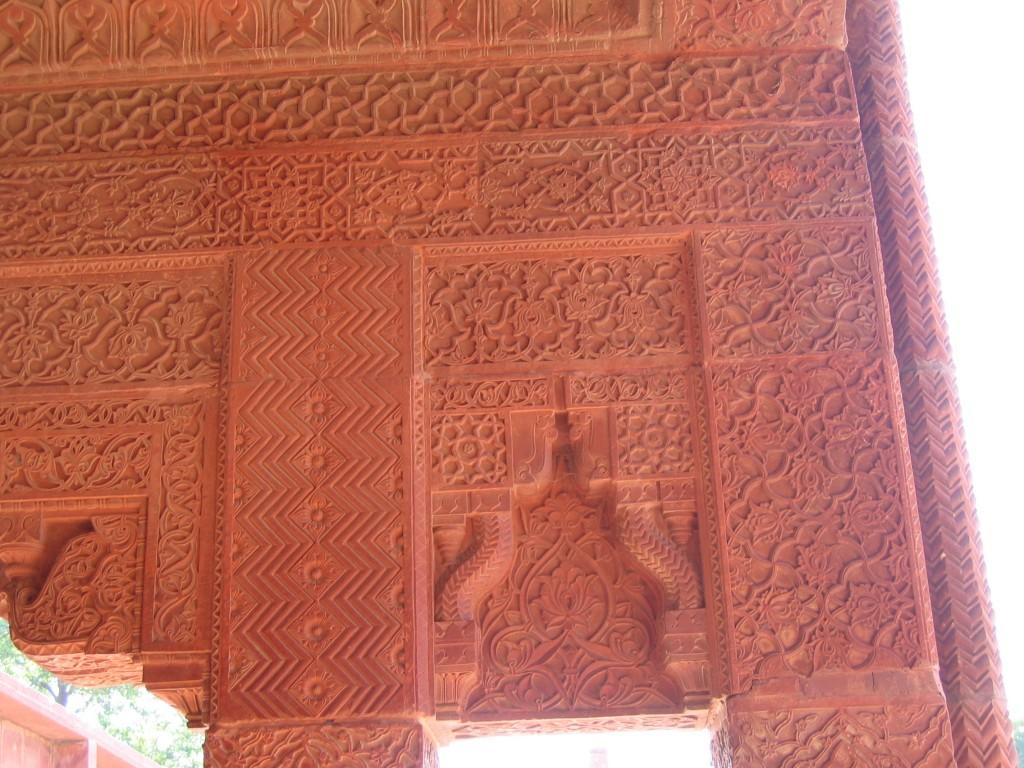 Osa seinistä oli hienosti koristeltuja