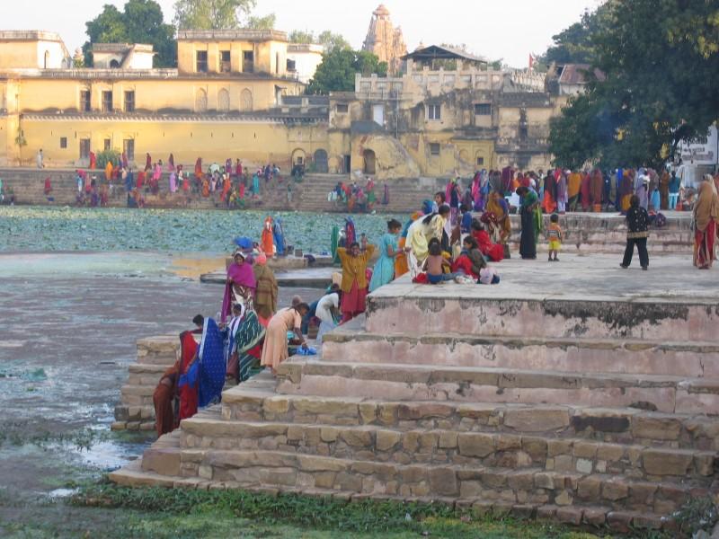 Temppelien lisäksi Khajurahossa on myös tavallistakin elämää
