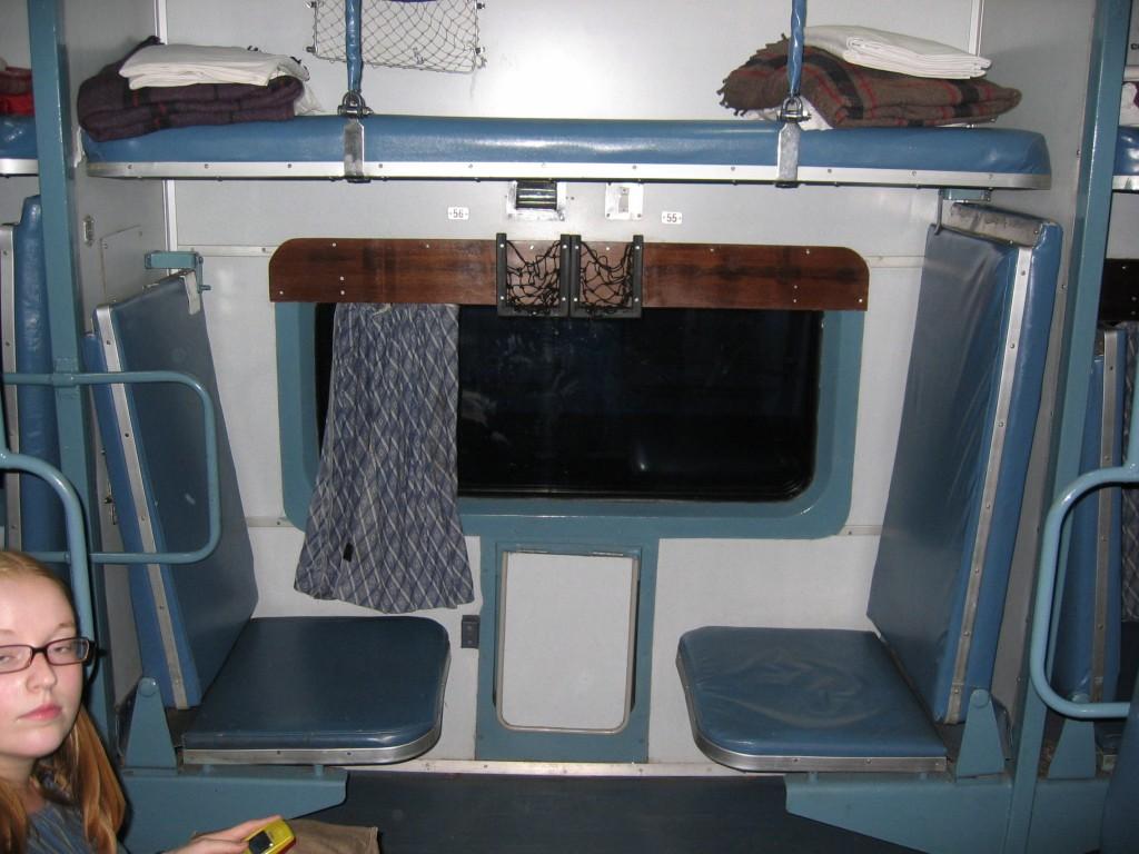 Ilmastoidussa junavaunussa on mukavat pedit ja petivaatteet