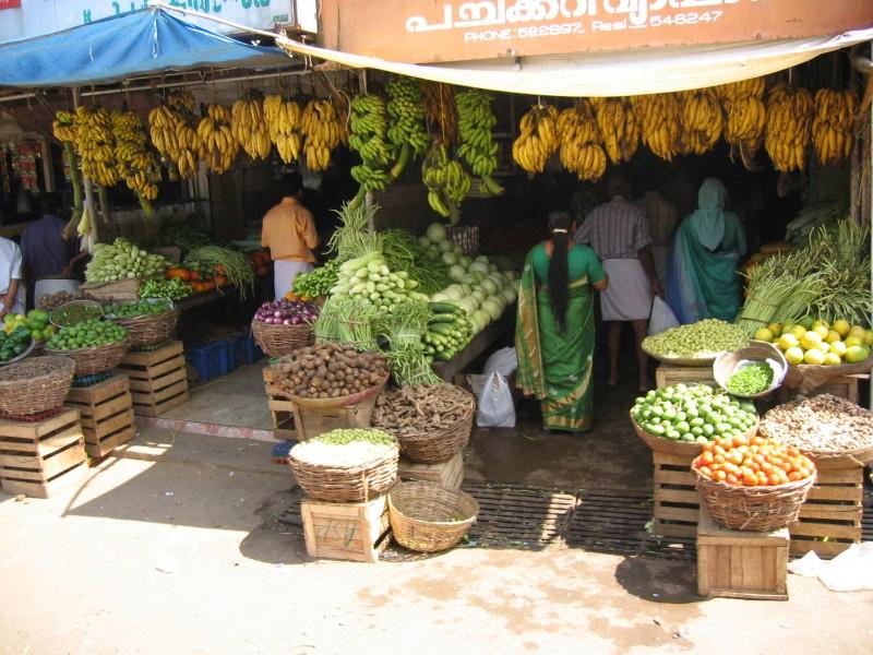 Keralassa muuten on banaaneja. Paljon banaaneja.