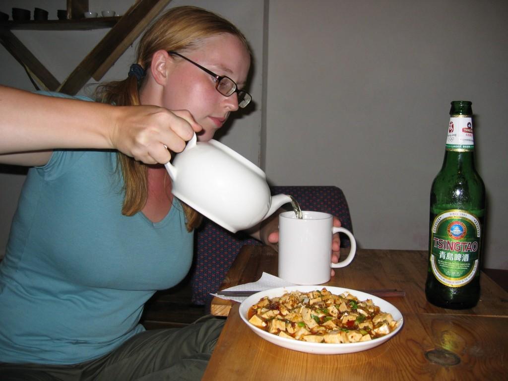 Ma Po Tofu ja vihreetä teetä