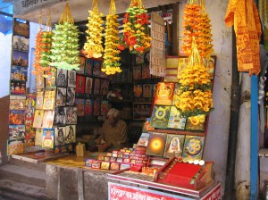 Puja stall at Haridwar