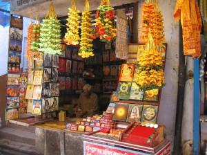 Puja stall at Haridwar
