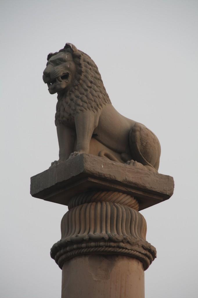 Leijonapatsas Ashokan pylvaan paalla