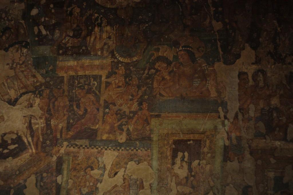 Osa hyvin sailynytta seinamaalausta