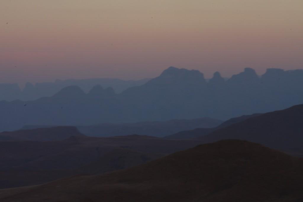 Cathedral Peak Witsieshoekista käsin