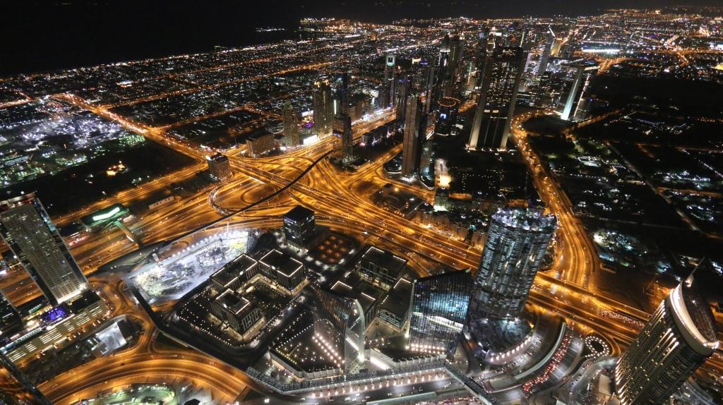 Näkymää Burj Khalifan näköalatasanteelta