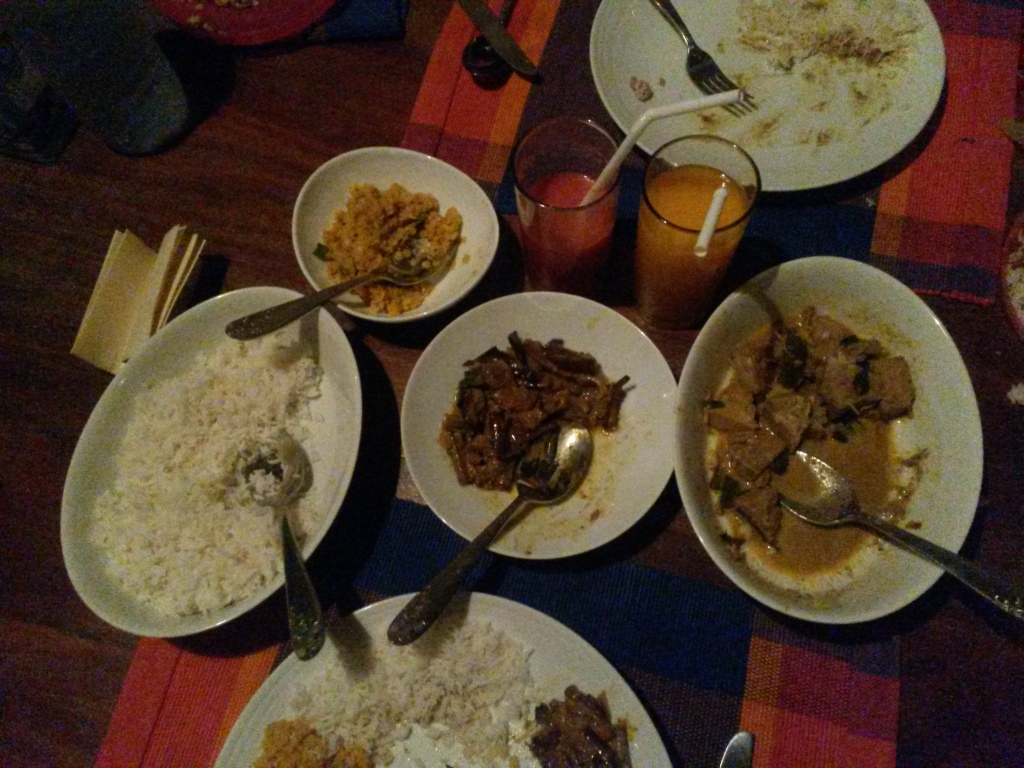 "The food at the villa improved significantly when we got the brinjal - or as locally know ""wombotu"" - which just melted in one's mouth. Also we had for the first time ""polo"" or jackfruit curry which had a surprising texture resembling that of mushrooms. Good, though quite meaty taste."