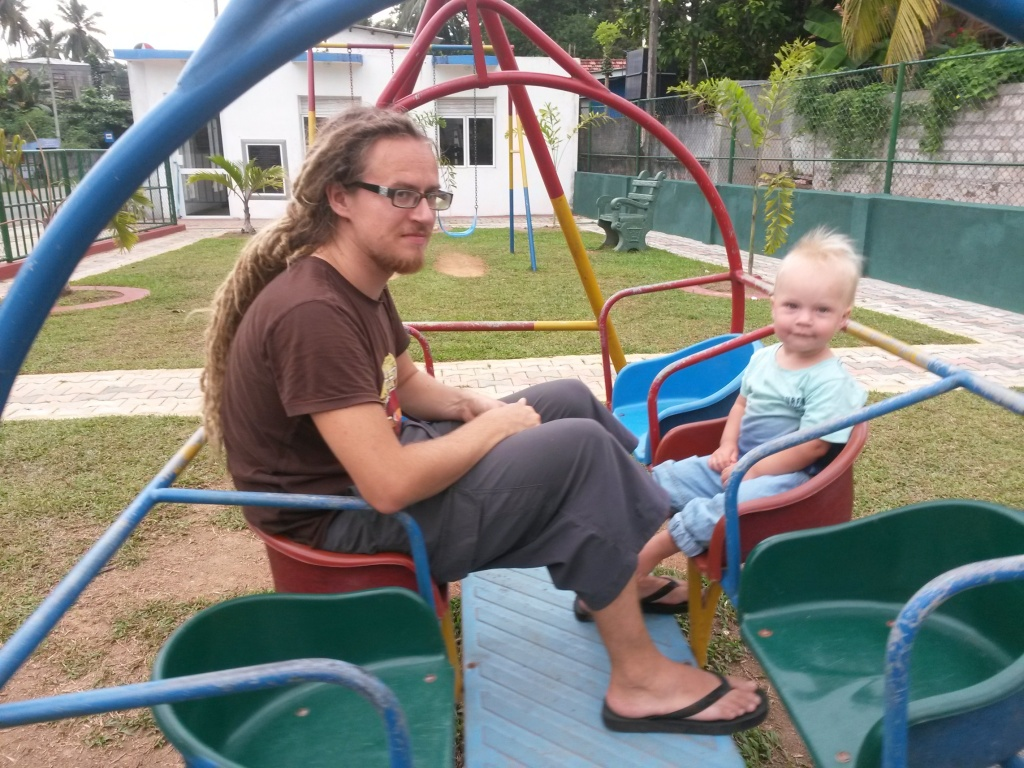 Swinging times, happy times - at Ambalangoda play ground