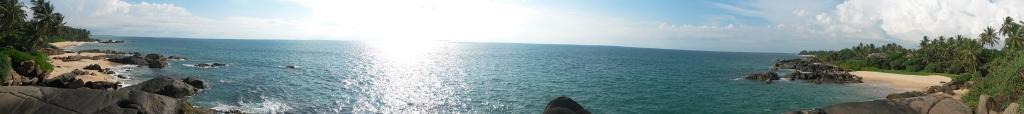 Balapitiya beach panorama