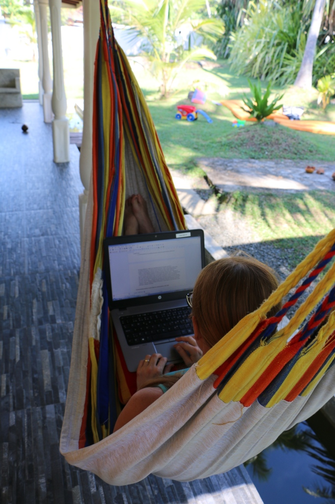 Working in a hammock prevents stress