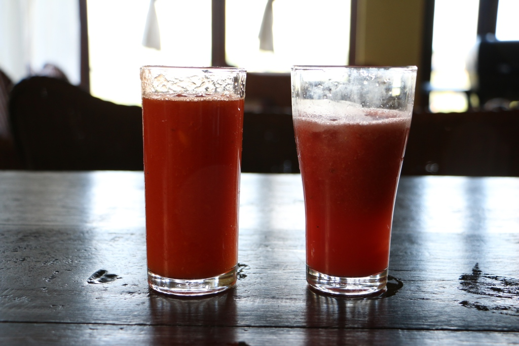 Some watermelon juice fresh from the oven (or blender to be more precise)