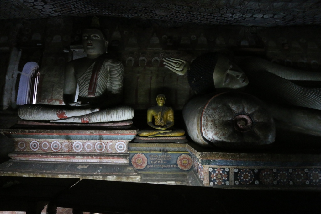The caves had Buddha statues in different shapes and sizes.