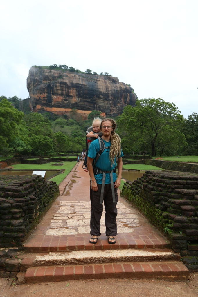 Mikko and Eero at the beginning of Sigiriya water world experience, still dry at this point