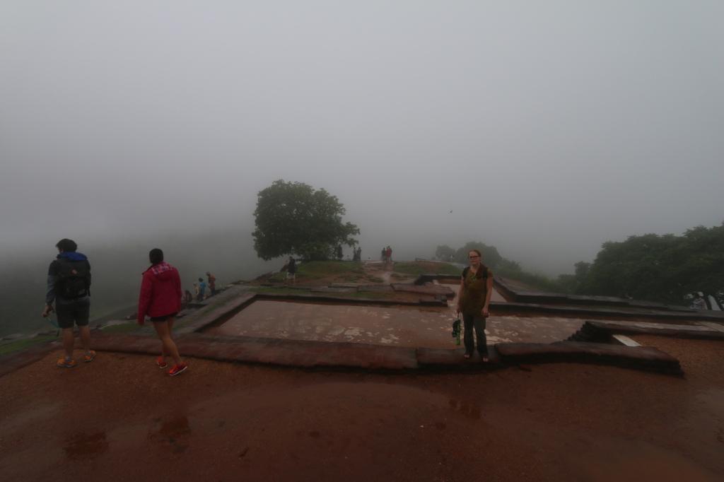 Maiju the not-so-happy camper on top of Sigiriya rock
