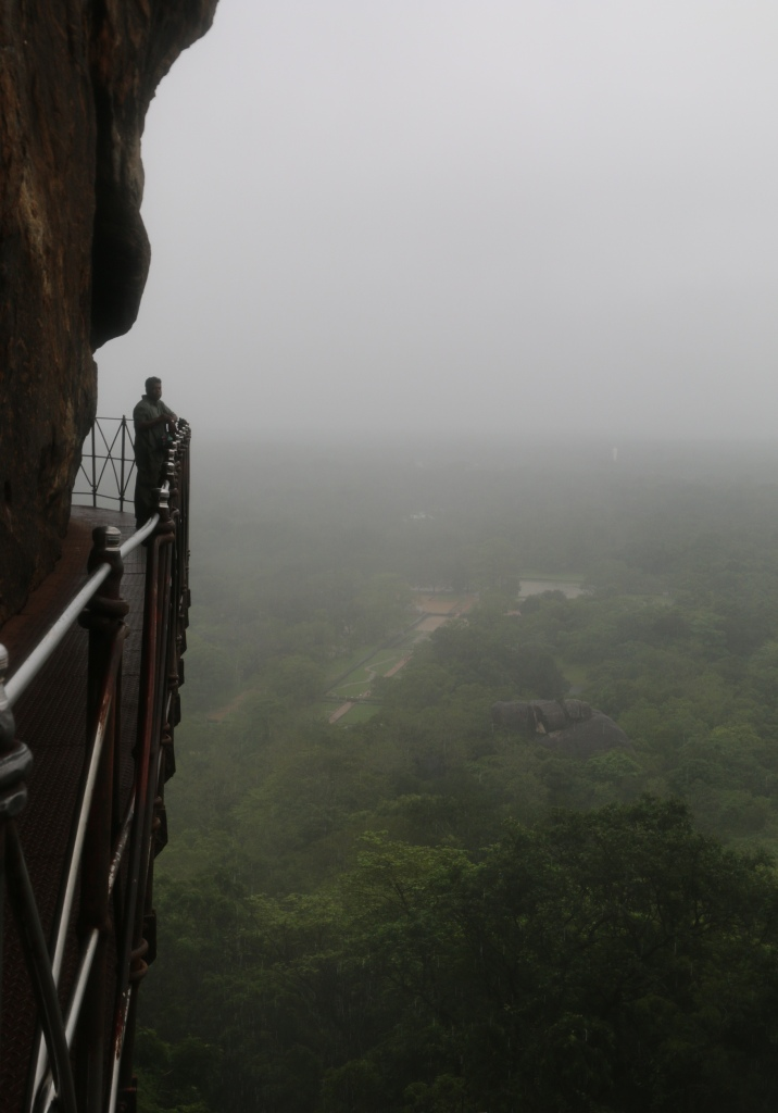 Through the mist, you could see that the view must be beautiful in good weather