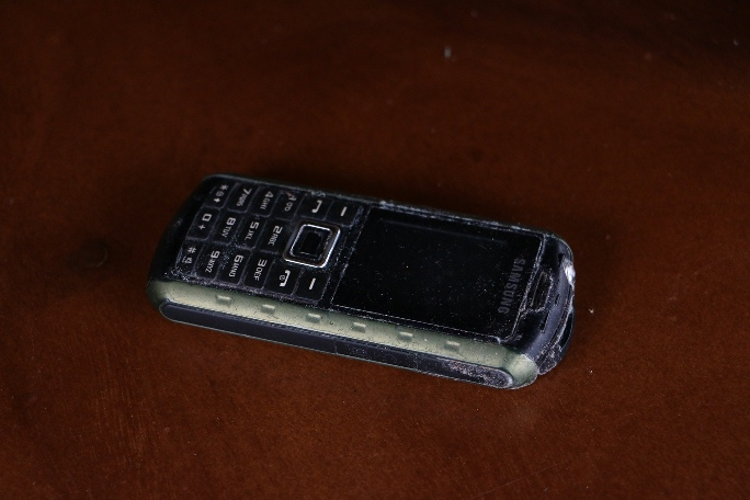 Because of the rain, it is so damp upstairs that even Mikko's cell phone has gathered mildew (!!!)