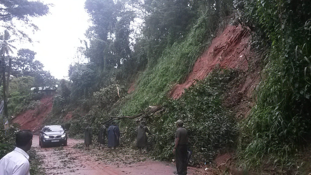 Rains have caused landslides around Kandy