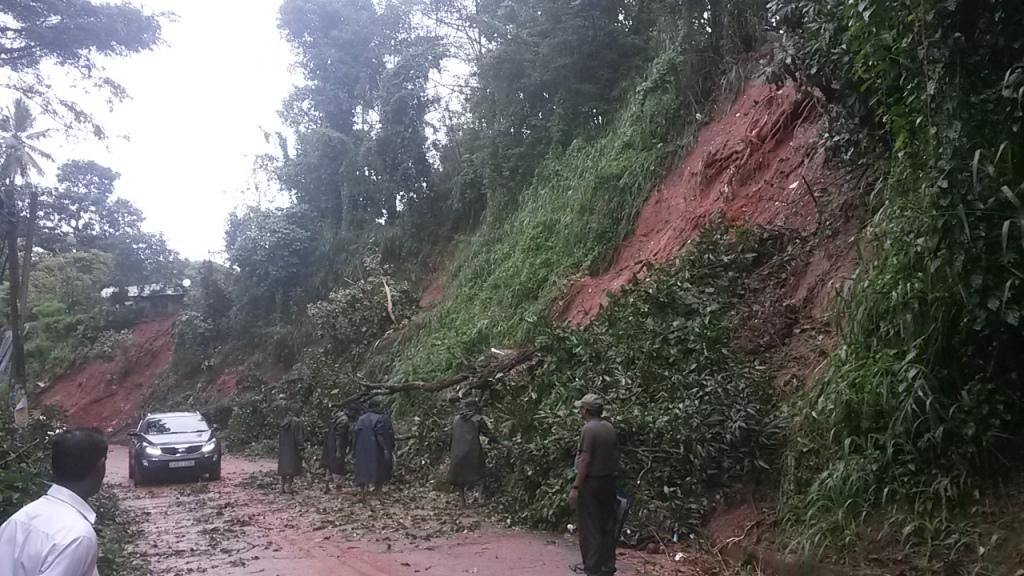 Rains have caused landslides around Kandy