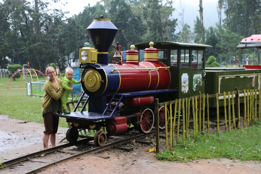 Toy train at Victoria Park, Nuwara Eliya
