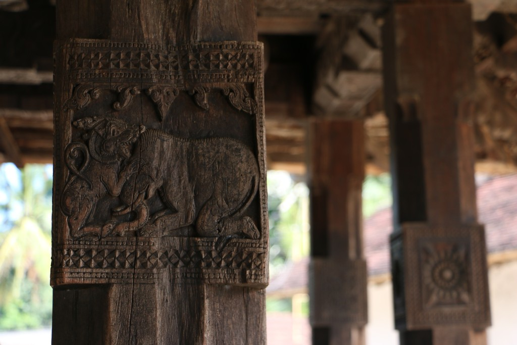 Embekke Devale is an old hindu temple made mostly out of wood. It is especially famous for the carvings on the pillars around the complex. Here's a picture of a lion and an elephant.