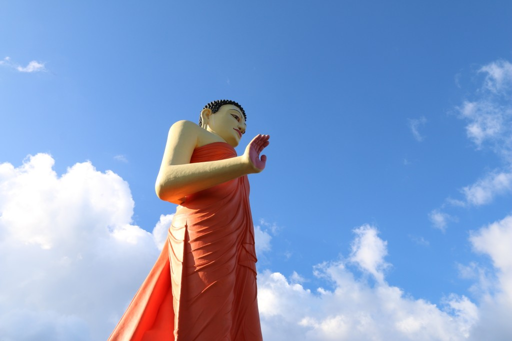 The biggest walking Buddha statue! Almost reaching for the sky.
