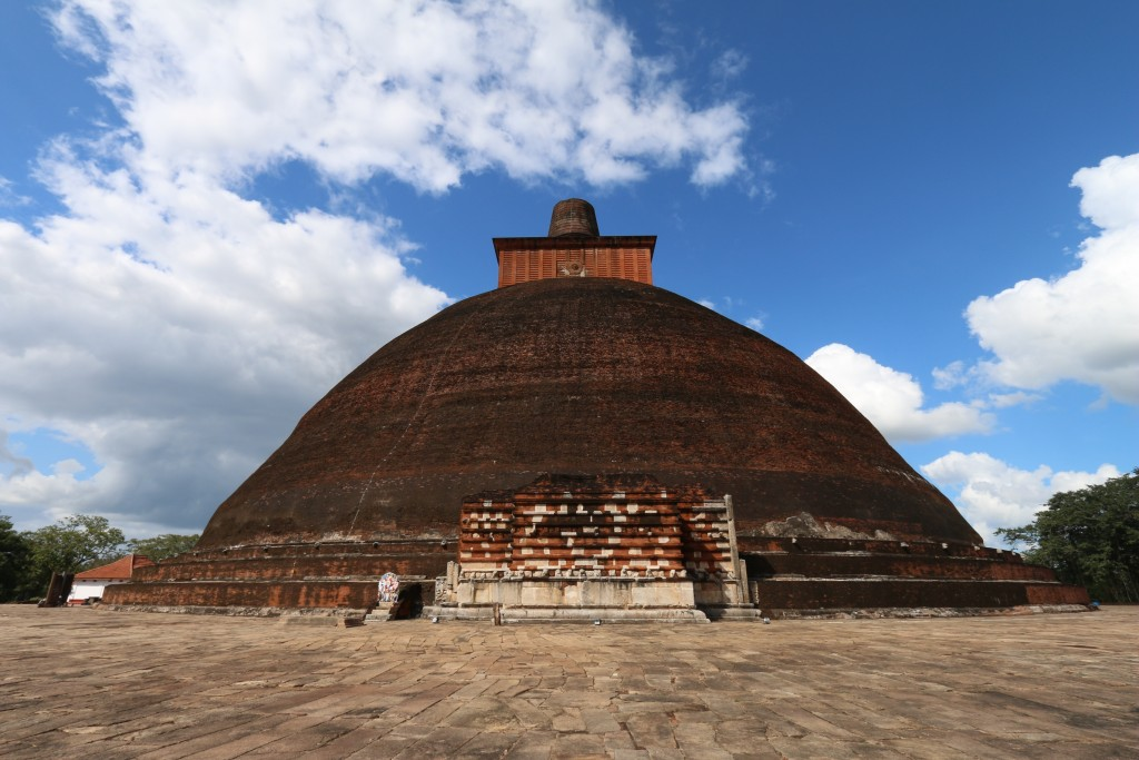 Jetavanarama Dagoba (or Stupa) from the 3rd century, when it was the third tallest building in the world after two Egyptian pyramids