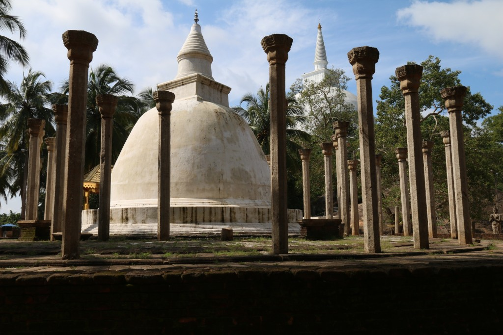 Ambastala Dagoba in the front with Maha Stupa in the background