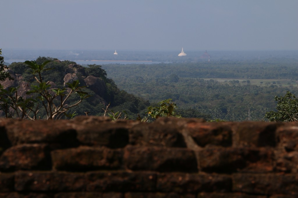 From the Maha Stupa, you could see the big stupas of Anuradhapura in the distance