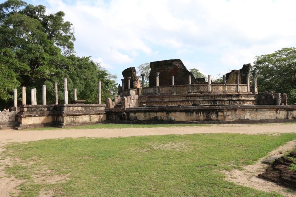 Vatadage, an impressive-looking circular structure housing four Buddha images