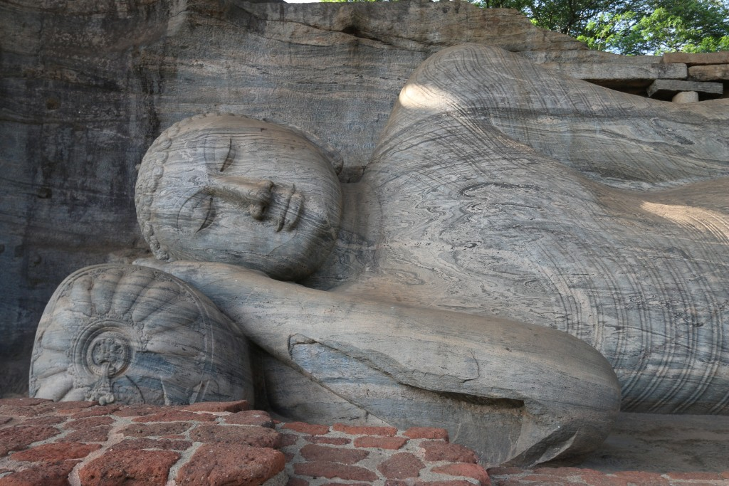 Head of the 14-meter long reclining Buddha