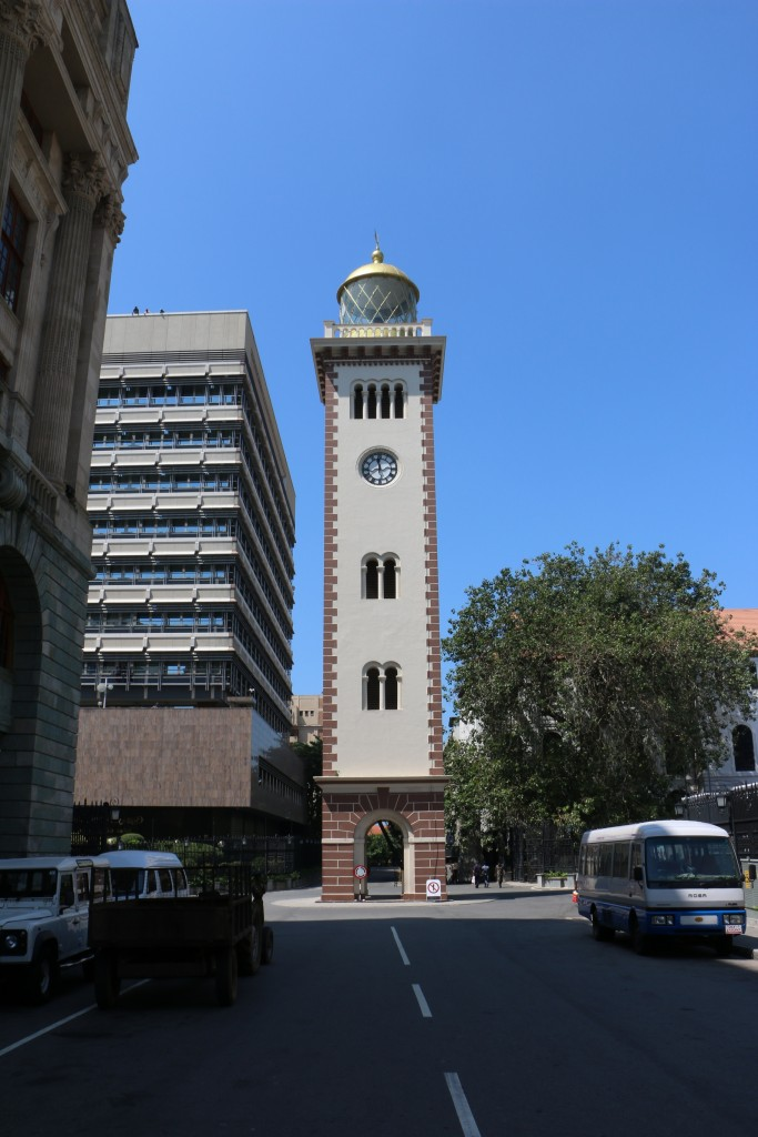 This is not just any clock tower. It is the only lighthouse clock in the world and it is also THE place where all the distances throughout the country are measured from. It has been standing here since 1857.