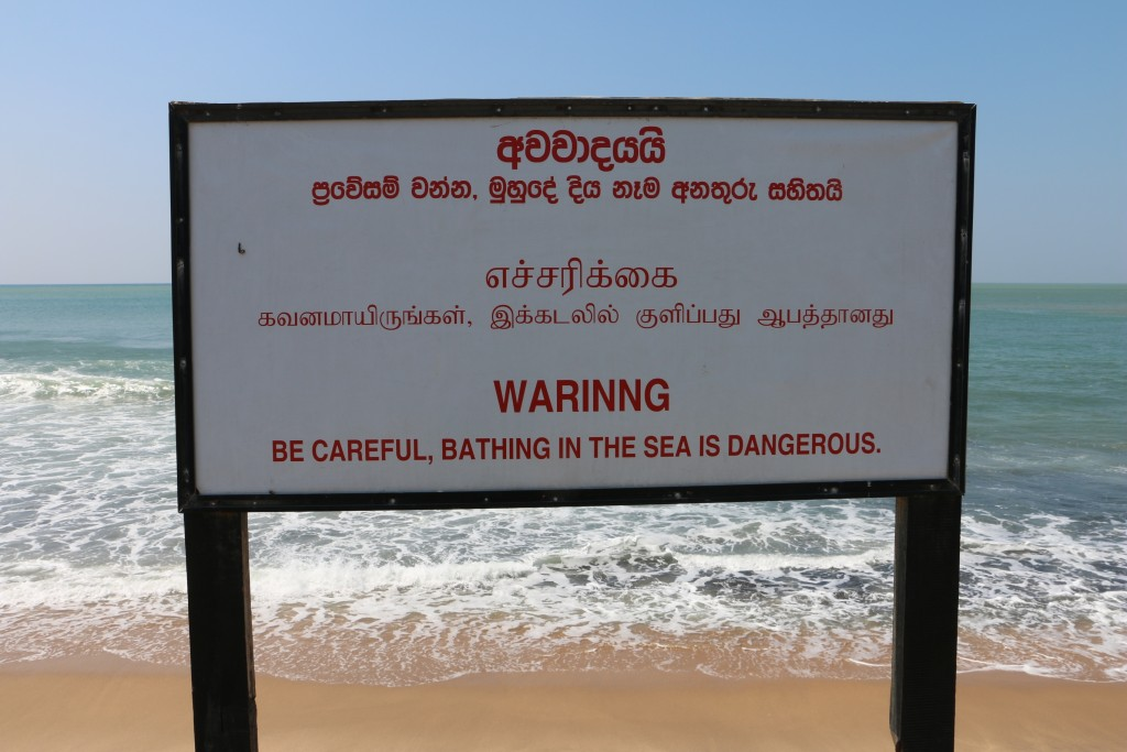 WARINNG, WARINNG! Don't go bathing in the sea.